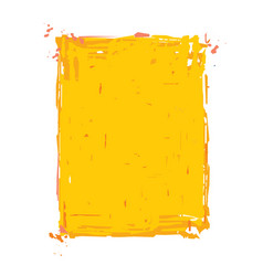 Grunge frame - yellow vector