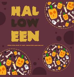halloween night party banner pumpskin vector image