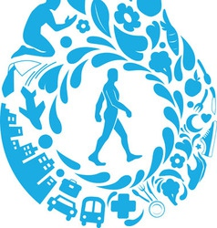 Healthy Life Silhouette vector image