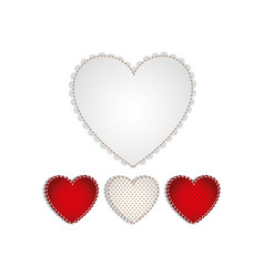 hearts design background icon vector image