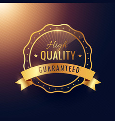 High quality guarantee golden label and badge vector