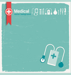 Hospital and medicine background vector