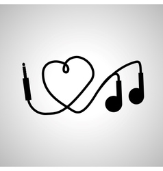 I love music headphones vector