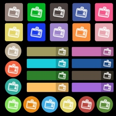 Id card icon sign Set from twenty seven vector image