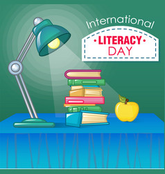 international literacy day concept background vector image