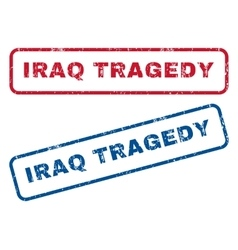 Iraq Tragedy Rubber Stamps vector