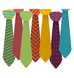 Isolated necktie design vector