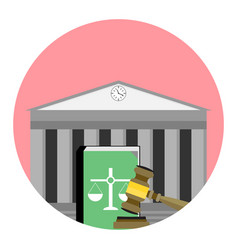 jurisdiction institute icon vector image
