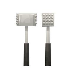 Kitchen metal hammer on white background vector