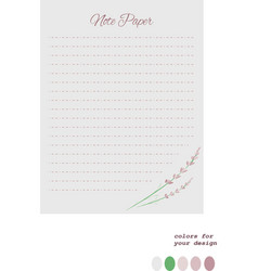 lavender writing letter paper vector image