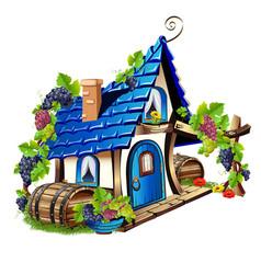 Little fairy house vector