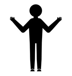 man in a standing position glyph icon stick vector image