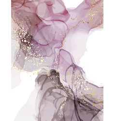 Marble watercolor liquid dark purple background vector