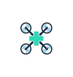 Medical drone logo icon design vector