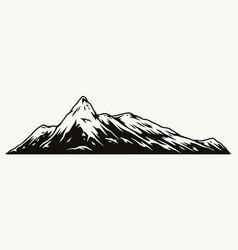 Mountain peak monochrome concept vector
