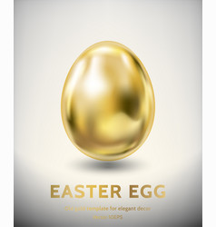 Old gold easter egg template vector
