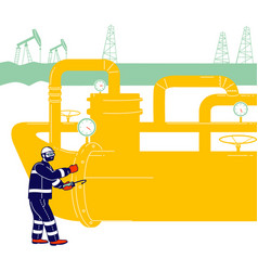 Operator check and inspect oil pump differential vector