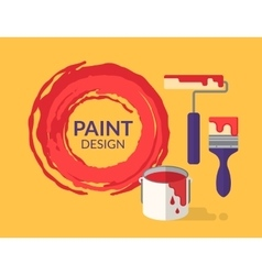 Paint design vector