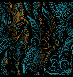 Paisley background vintage seamless pattern vector
