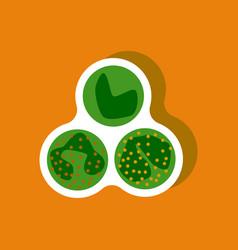 paper sticker on stylish background leukocyte vector image