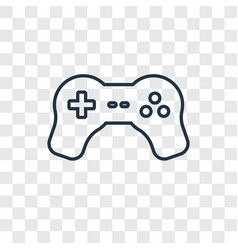play concept linear icon isolated on transparent vector image