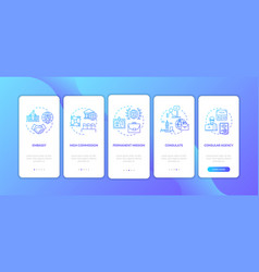 Political official onboarding mobile app page vector