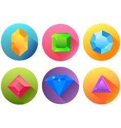 precious stones vector image