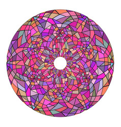round mandala made of stained glass broken glass vector image