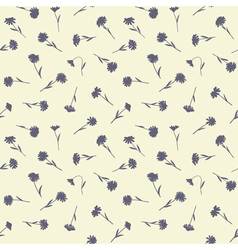 Seamless floral pattern with small wild flowers vector