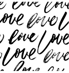 seamless pattern with love words vector image