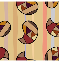 Seamless texture with colorful graphic elements vector