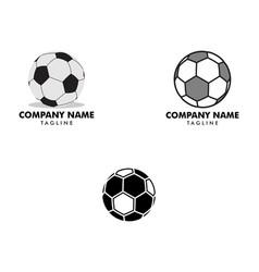 set soccer ball icon logo vector image