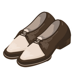 Shoes and clothes trends men footwear 1950s vector