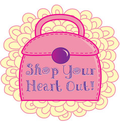 Shop Your Heart Out vector