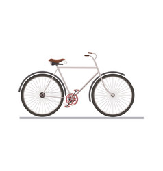 side view of a bicycle vector image