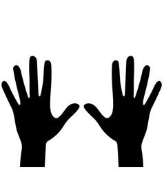 Silhouettes hands isolated on a white vector