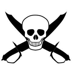 Skull and cutlasses vector