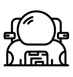 Spacesuit with knapsack icon outline style vector