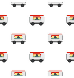 Street food trailer pattern seamless vector