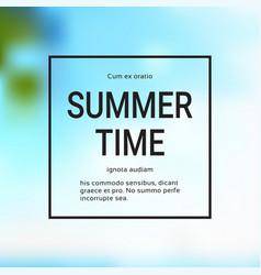 summer time blurred sea bokeh background frame vector image