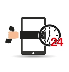 Support center via phone 24 hours vector
