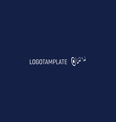 template music logo simple flat style universal vector image