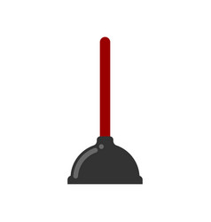 toilet plunger isolated accessory for cleaning vector image