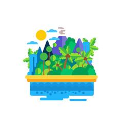 tropical island in ocean vector image