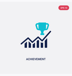 Two color achievement icon from business concept vector