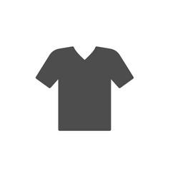 v-neck t-shirt glyph modern icon vector image