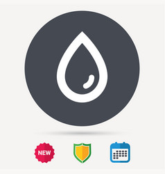 Water drop icon natural aqua sign vector