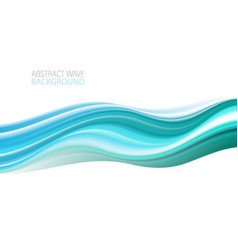 wave art design for your design project vector image
