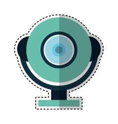 web cam gadget isolated icon vector image