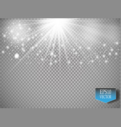 white glitter wave white star vector image